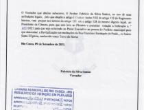 Indicação nº 057/2021 encaminhada ao Executivo