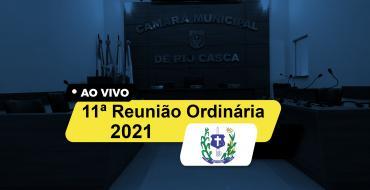 11ª Reunião Ordinária da Câmara Municipal de Rio Casca 2021